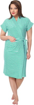 Besty Green Free Size Bath Robe(Bathrobe, For: Women, Green)