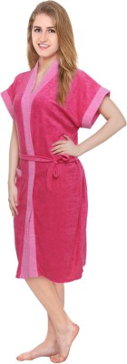 Superior Pink Free Size Bath Robe(Bath Robe, For- Women, Pink)