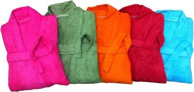 CKT Multicolor Free Size Bath Robe