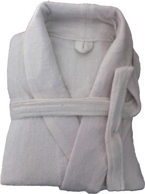 CKT White Free Size Bath Robe