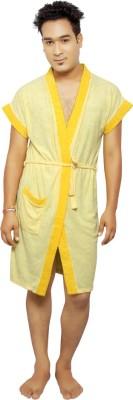 VeenaDdesigner Yellow, Yellow Free Size Bath Robe