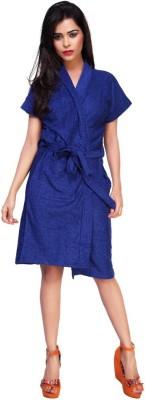 Carrel Blue XL Bath Robe(1 Bath Robe, For: Women, Blue)