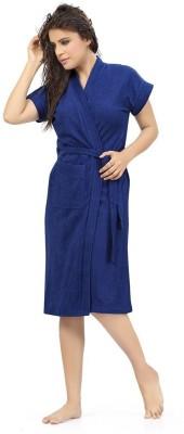Be You Dark Blue Free Size Bath Robe(1 Bathrobe, For: Women, Dark Blue)