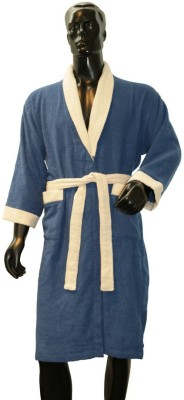 Welhome by Welspun Blue Medium Bath Robe