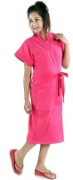 seemee Dark Pink Free Size Bath Robe(Bath Robe, For: Women, Dark Pink)