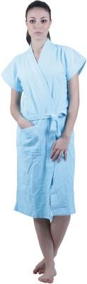 Vixenwrap Blue Free Size Bath Robe(1 Bathrobe, For: Women, Blue)