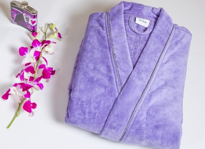 Spaces by Welspun Purple Large Bath Robe