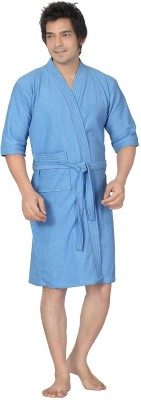 Superior Blue Free Size Bath Robe