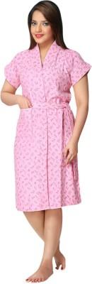 Besty Pink Free Size Bath Robe(Bath robe, For: Women, Pink)