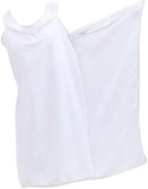 Pindia Light White Free Size Bath Robe
