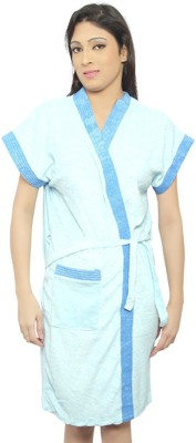 Superior Light Blue Free Size Bath Robe