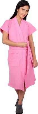 Vixenwrap Pink Free Size Bath Robe(Bath Robe, For: Women, Pink)