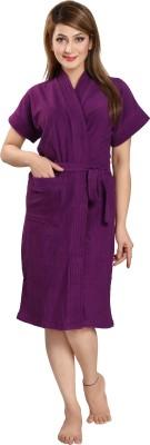 Be You Violet Free Size Bath Robe(1 Bathrobe, For: Women, Violet)