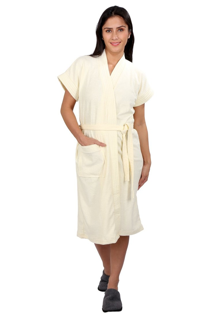 FILMAX® ORIGINALS Off-White Free Size Bath Robe