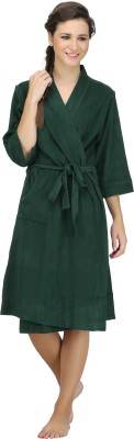 She N She Green L, M Bath Robe