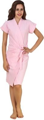 CrazyLiner Pink Free Size Bath Robe