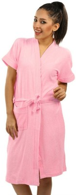 FeelBlue Pink Free Size Bath Robe