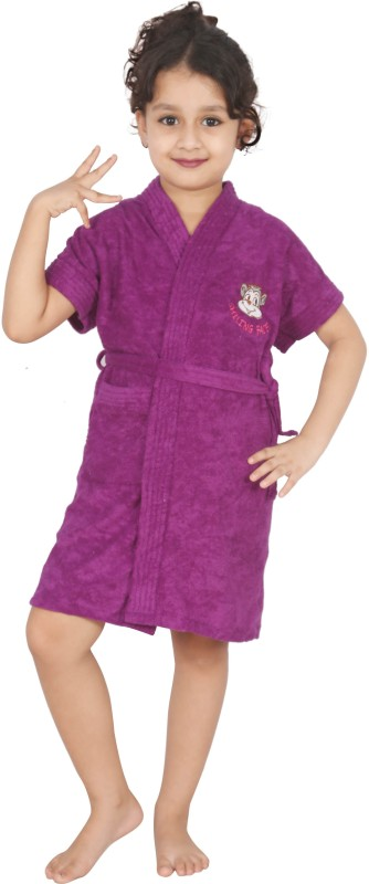 Superior Purple Medium Bath Robe(Bath Robe, For: Baby Boys & Baby Girls, Purple)