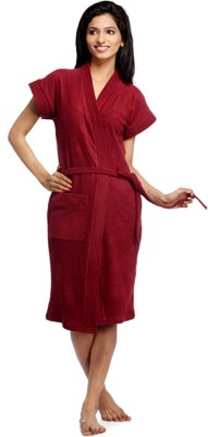Superior Maroon Free Size Bath Robe(Bath Robe, For- Women, Maroon)
