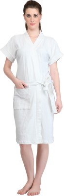 Mark Home White Medium Bath Robe