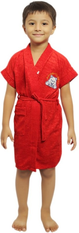 Superior Red Medium Bath Robe(Bath Robe, For: Baby Boys & Baby Girls, Red)