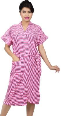 Ishin Pink Free Size Bath Robe