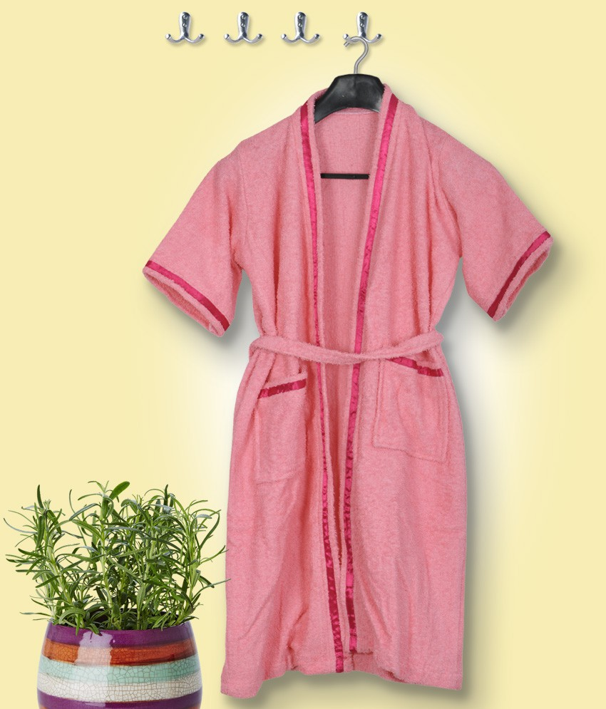 Skumars Love Touch Pink Large Bath Robe
