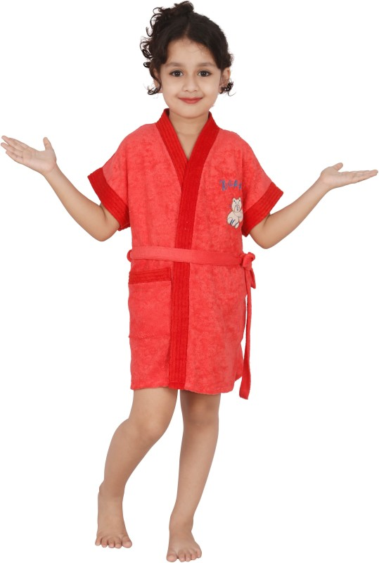 Superior Pink Small Bath Robe(Bath Robe, For: Boys, Pink)