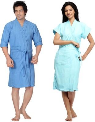 Superior Light Blue Free Size Bath Robe