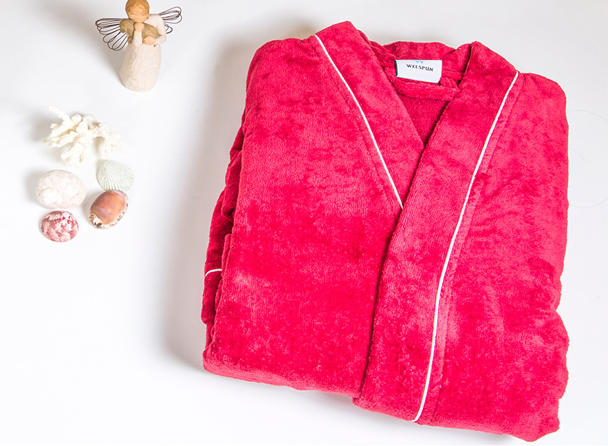 Spaces by Welspun Red XL Bath Robe