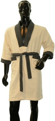 Welhome by Welspun Beige Large Bath Robe