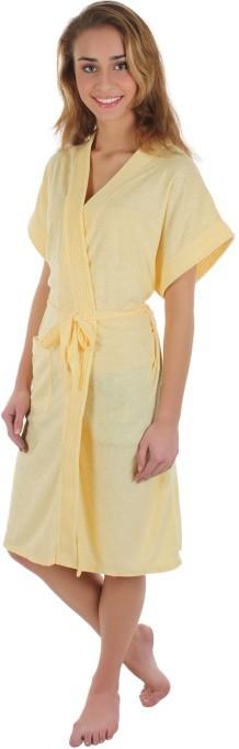 Sree Lakshmi's Yellow Free Size Bath Robe