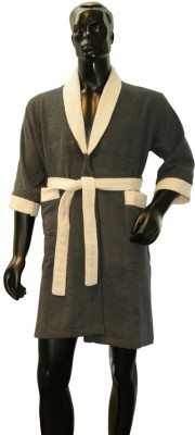 Welhome by Welspun Grey Large Bath Robe