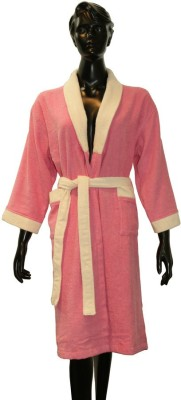 Welhome by Welspun Pink Large Bath Robe