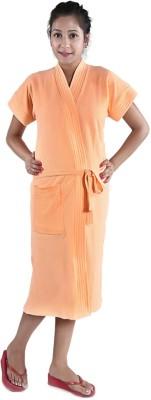 V Brown Orange Free Size Bath Robe