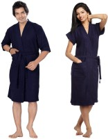 Superior Navy Blue Free Size Bath Robe(2 Bath Robe, For: Men & Women, Navy Blue)