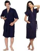 Superior Navy Blue Free Size Bath Robe(2 Bath Robe, For: Men & Women, Navy Blue)