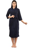 Superior Navy Blue Free Size Bath Robe(Bathrobe, For: Men & Women, Navy Blue)