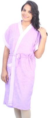 Romano Purple Free Size Bath Robe