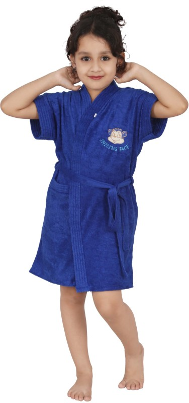 Superior Royal Blue Bath Robe(Bath Robe, For: Baby Boys & Baby Girls, Royal Blue)
