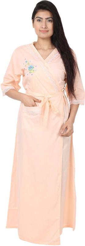 She N She Peach Large Bath Robe(1 Bath Robe, For: Women, Peach)