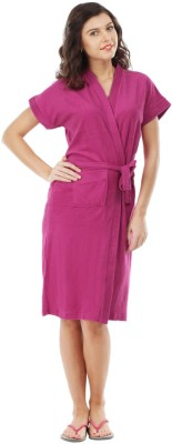 FeelBlue Magenta Free Size Bath Robe