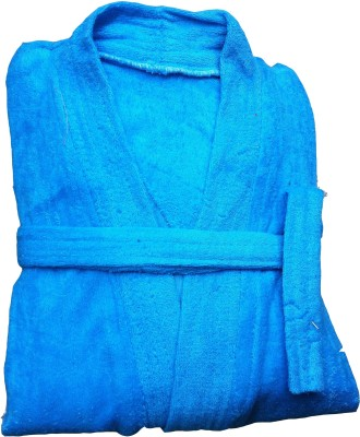 CKT Blue Free Size Bath Robe