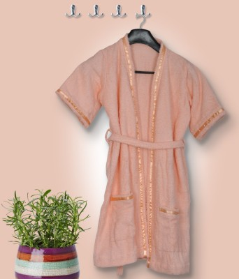 Skumars Love Touch Peach Medium Bath Robe
