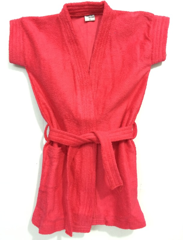 Spicy Style Red Large Bath Robe(Bath Robe, For: Baby Boys & Baby Girls, Red)