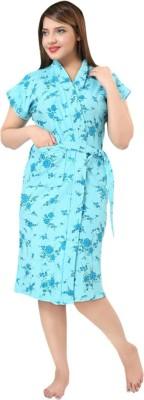 Besty Blue Free Size Bath Robe(Bath robe, For: Women, Blue)