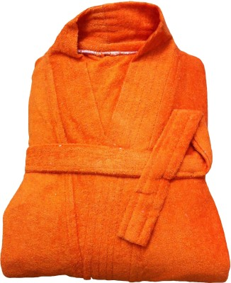 CKT Orange Free Size Bath Robe