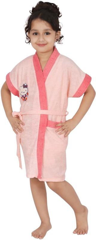Superior Peach Small Bath Robe(Bath Robe, For: Boys, Peach)