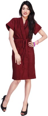 Superior Maroon Free Size Bath Robe(Bath Robe, For: Women, Maroon)