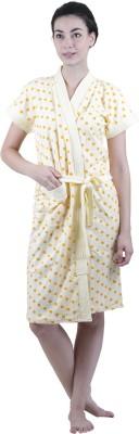 Vixenwrap Yellow Free Size Bath Robe